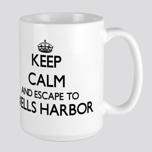 Keep calm and escape to Wells Harbor Maine Mugs