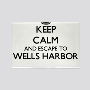 Keep calm and escape to Wells Harbor Maine Magnets