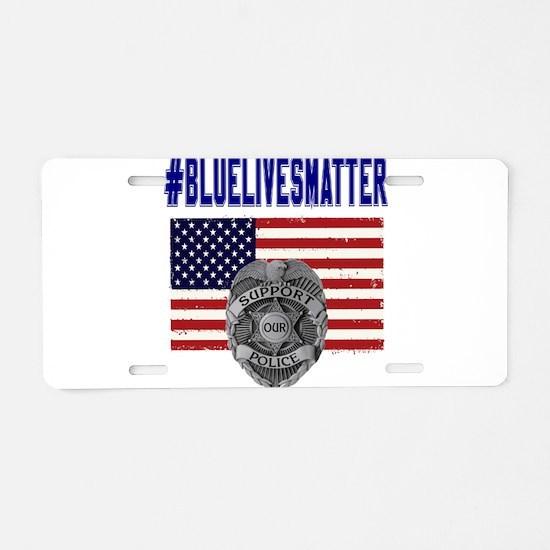 Cute Law enforcement Aluminum License Plate
