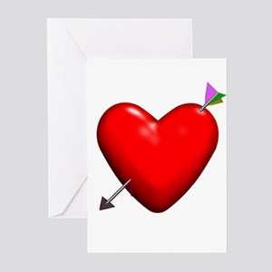 Pierced Heart Greeting Cards (Pk of 10)