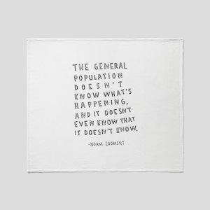 Noam Chomsky quote Throw Blanket