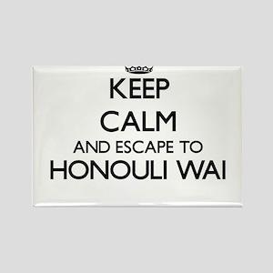 Keep calm and escape to Honouli Wai Hawaii Magnets
