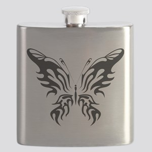 Black and White Butterfly Flask