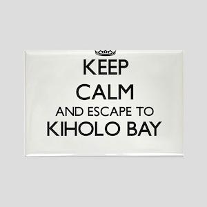 Keep calm and escape to Kiholo Bay Hawaii Magnets