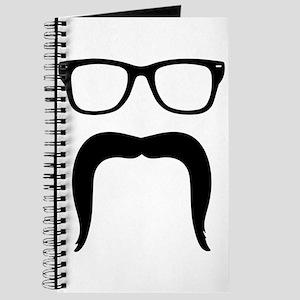 Handlebar Mustache Face Journal