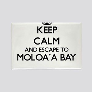 Keep calm and escape to Moloa'A Bay Hawaii Magnets