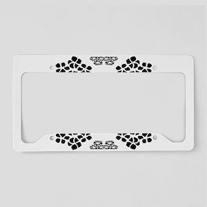 Floral Frame Pattern License Plate Holder
