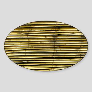 Yellow Bamboo Pattern Sticker (Oval)