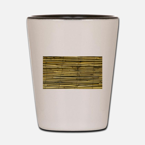 Yellow Bamboo Pattern Shot Glass