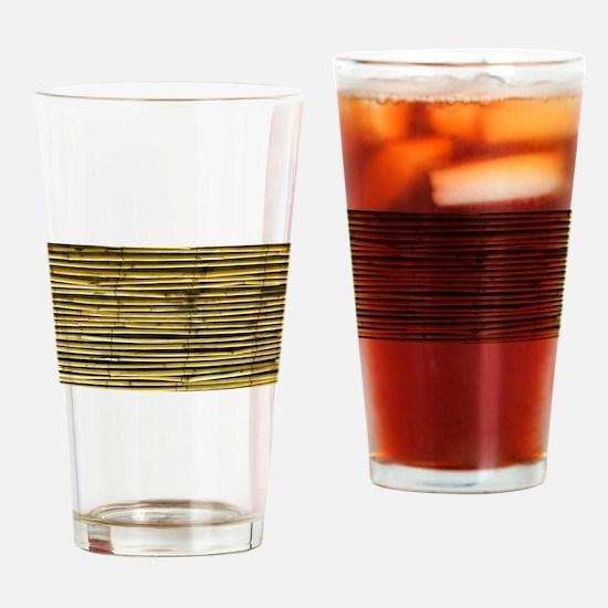 Yellow Bamboo Pattern Drinking Glass