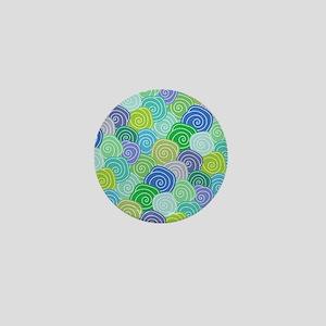 Abstract Circles  Mini Button
