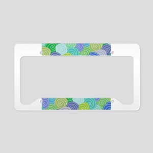 Abstract Circles License Plate Holder