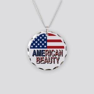 American Beauty Necklace Circle Charm