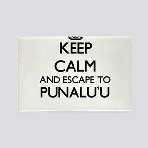 Keep calm and escape to Punalu'U Hawaii Magnets
