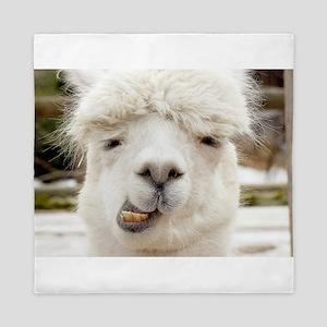 Funny Alpaca Smile Queen Duvet