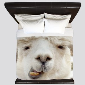 Funny Alpaca Smile King Duvet