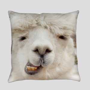 Funny Alpaca Smile Everyday Pillow
