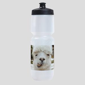 Funny Alpaca Smile Sports Bottle