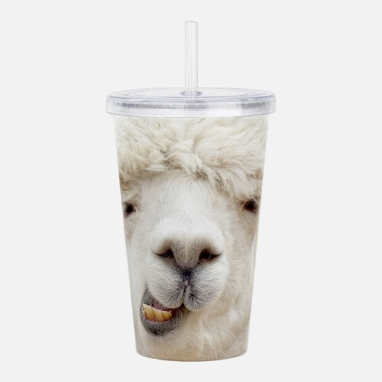 Funny Alpaca Smile Acrylic Double-wall Tumbler