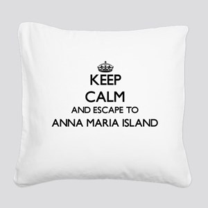 Keep calm and escape to Anna Square Canvas Pillow