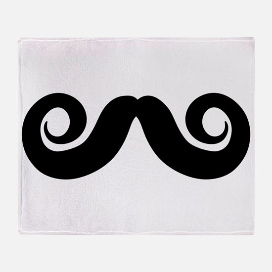 Imperial Mustache Throw Blanket