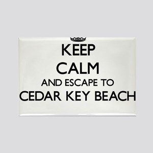Keep calm and escape to Cedar Key Beach Fl Magnets