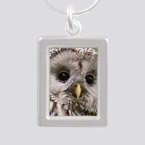 Owl See You Silver Portrait Necklace