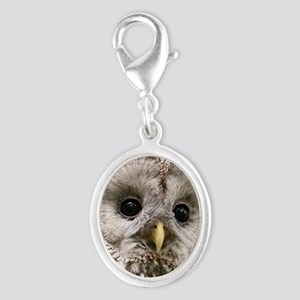 Owl See You Silver Oval Charm