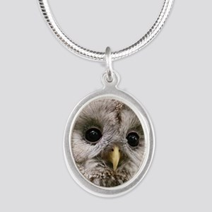 Owl See You Silver Oval Necklace