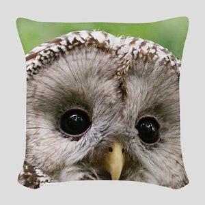Owl See You Woven Throw Pillow