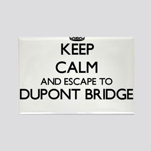 Keep calm and escape to Dupont Bridge Flor Magnets