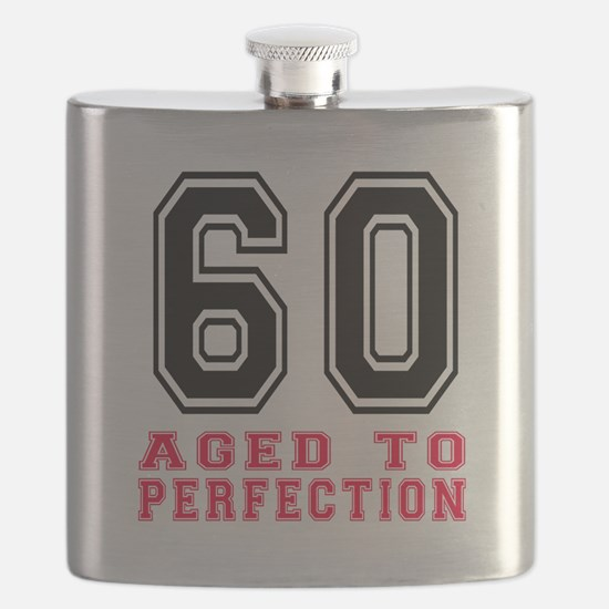 60 Aged To Perfection Birthday Designs Flask