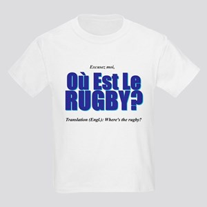 Où Est Le Rugby? World Cup 2007 Kids Light T-Shirt