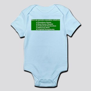 Uncle and Aunty Who Baby Light Bodysuit