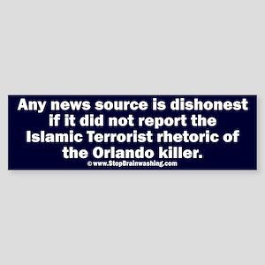 Honest News says Islamic Sticker (Bumper)
