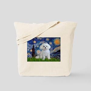 Starry Night / Maltese Tote Bag