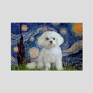 Starry Night / Maltese Rectangle Magnet