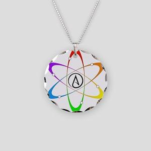 Atheist Atom Symbol Necklace Circle Charm