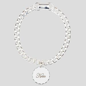 Gold Krista Charm Bracelet, One Charm