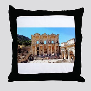 Today Meets Yesterday Throw Pillow