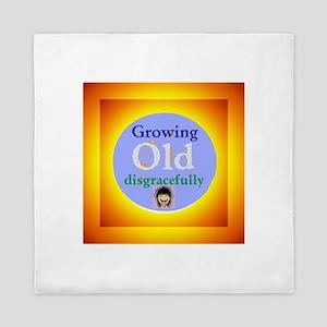 Growing Old Queen Duvet