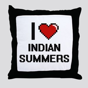 I Love Indian Summers Throw Pillow
