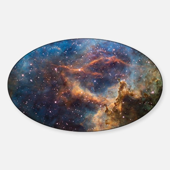 Cute Galaxy Sticker (Oval)