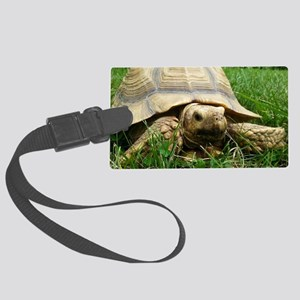 Sulcata Tortoise Large Luggage Tag