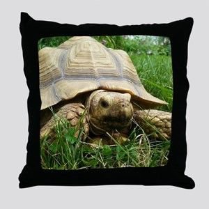 Sulcata Tortoise Throw Pillow