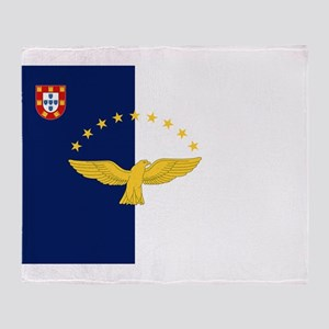 Flag of Azores Throw Blanket