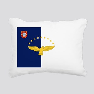 Flag of Azores Rectangular Canvas Pillow