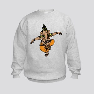 Dancing Ganesh Kids Sweatshirt
