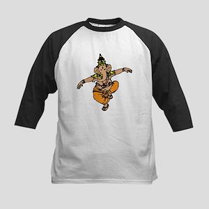 Dancing Ganesh Kids Baseball Jersey