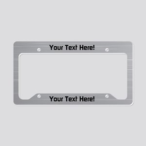 Custom Aluminum License Plate Holder
